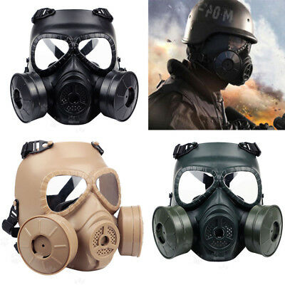 Breathable Double Filter Gas Dust Mask Fan CS Edition Perspiration Face Guard