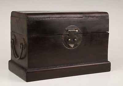 Rare Chinese Wood Bronze Jewelry Box Old Sealed Cixi Special Imperial Collection