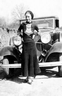 1933 Bonnie Parker PHOTO Gangster Bonnie and Clyde Gang Prohibition Era Car