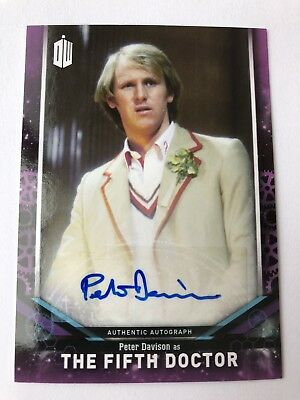"2018 Topps ""Doctor Who"" Signature Series Peter Davison The Fifth Doctor AUTO"