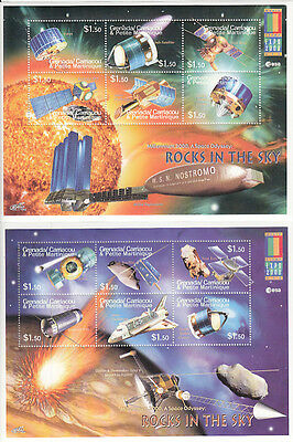 Grenada-Grenadines MNH Scott # 2205-06 S/S  Space Explora Value $ 13.50  US $$