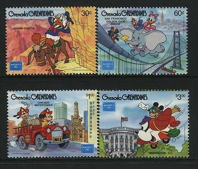 Grenada-Grenadines MNH Sc 753-56 Disney Value $ 8.00  US $$