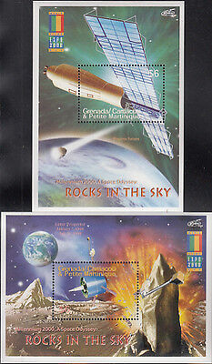 Grenada Grenadines MNH Sc 2207-08 S/S Space Exploration Value $ 9.00 US $$