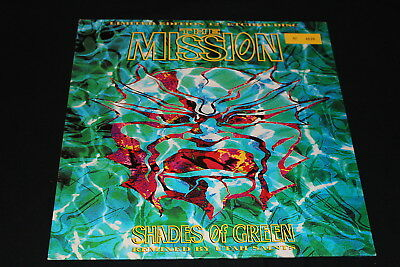 """THE MISSION - Shades of green - 12"""" ETCHED DISC NMINT"""