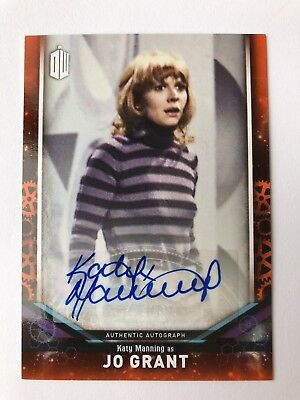 """2018 Topps """"Doctor Who"""" Signature Series Katy Manning Jo Grant AUTO 08/10"""