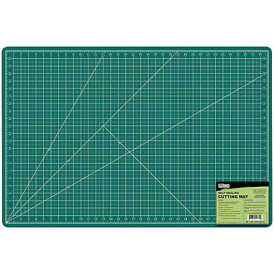 "24"" x 36"" GREEN/BLACK Self Healing 5-Ply Double Sided Durable PVC Cutting Mat"