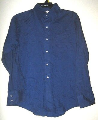 FLEETLINE Mens Vtg Blue Long Sleeve Button Retro Casual Country Western Shirt L