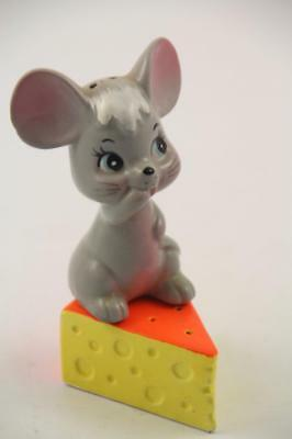 Vintage Enesco Mouse & Cheese Ceramic Salt Pepper Shakers~Made in Japan