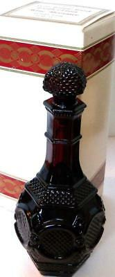 Avon 1886 Cape Cod Collection WINE DECANTER with Bubble Bath Ruby Red Glass