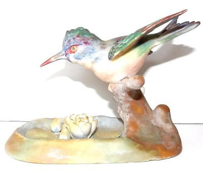 Ardalt Lenwile China Bird Figurine KINGFISHER Handpainted Japan​ Vintage 1940's