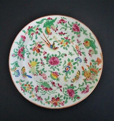 Antique Chinese Famille Rose Celadon Porcelain Plate