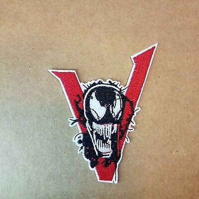Spiider-man Venom  V Logo Patch 3 1/2  inches tall