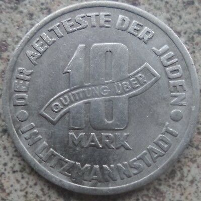 Getto Litzmannstadt  10 Mark 1943   2,84 g  vz
