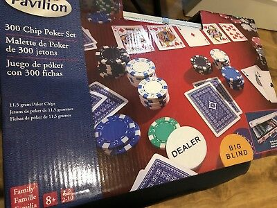 NEW Pavilion Poker Set - 300-Piece  By: Cardinal Industries