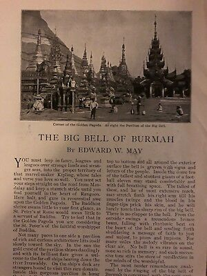 1899 Big Bell of Burma Golden Pagoda illustrated