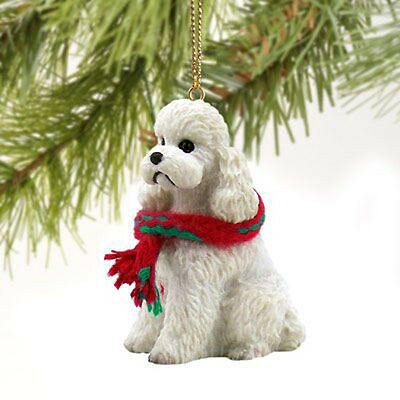 Poodle Sport Cut White Dog Tiny One Miniature Christmas Holiday ORNAMENT