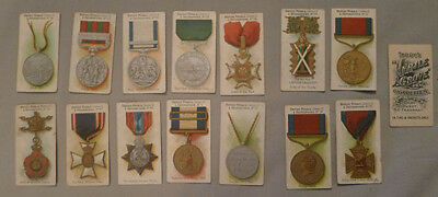 1905 Taddy & Co. Lot of 15 British Medals & Decorations Series 2 Cigarette Cards