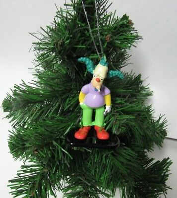 "The Simpsons Die Cast Christmas Ornament ""krusty"""