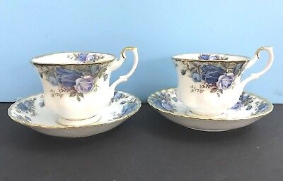 Set of Two Royal Albert Moonlight Rose 2 Cup's & Saucer's Plate Tea Coffee