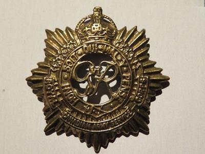 Royal Canadian Army Service Corps WWII Era Brass Cap Badge