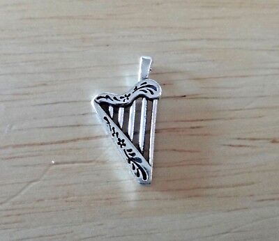 Sterling Silver 3D 13x10mm Piano Musical Instrument Charm Pendant!