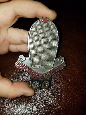 Early Bugatti Owners Club Badge Radiator Grille Topper