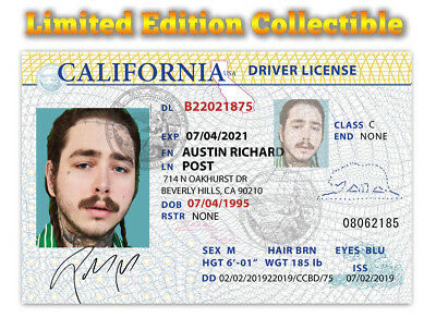 Post Malone Superstar Limited Edition Collectible License