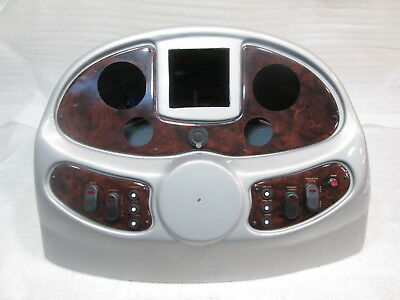 Boat Center Console Top Cover Helm Dash Pontoon Gauge Switch Panel Silver