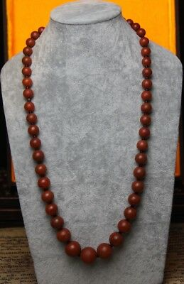 Wonderful Old Antique Tibet Southern Red Agate Akadama Necklace -Antique Jewelry
