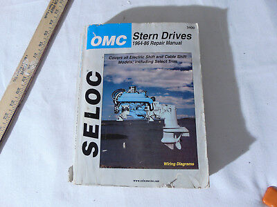SELOC OMC Stern Drives 1964-1986 Repair Manual #3400 *Please Read Descripription