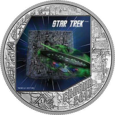 Canada - 2017 'Star Trek(TM) ; The Borg' Colorized Proof $20 1 oz. Silver Coin