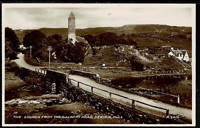 Real Photo Postcard - The Church from Calgary Road  Dervaig Isle of Mull