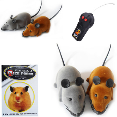 Remote Control RC  Mouse RAT  For Cat Dog Pet Funny MICE PRANK Toy GIFT