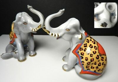 Lynn Chase TIGER RAJ Elephant Salt & Pepper Shakers, Mint!