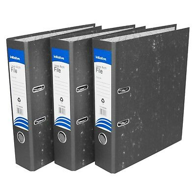 10 x A4 Cloud Lever Arch Files Large Paper Office Document Storage Folders Grey