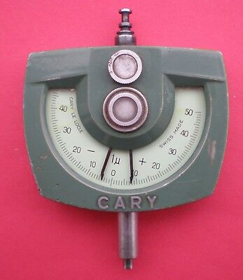 CARY Le Locle comparateur 1 µ +/- 50 µ Swiss made horlogerie comme MITUTOYO