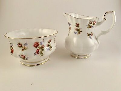 Royal Albert Winsome Large Sugar Bowl Creamer Milk Jug England Vintage