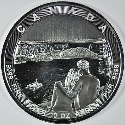 2017 Canada The Great Series Niagra Falls 10 oz Silver $50 Coin (b465.6)