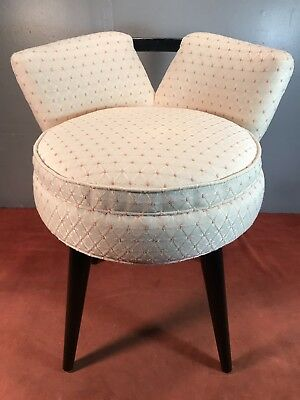 Magnificent Mid Century Paul Frankl Modern Miniature Swivel Vanity Stool Dailytribune Chair Design For Home Dailytribuneorg