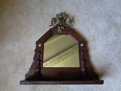 Antique Georgian Mirror with Brass Finial