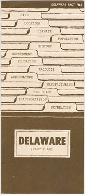 1960's Delaware Facts & Information Brochure
