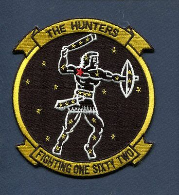 VF-162 HUNTERS US NAVY CHANCE VOUGHT F-8 CRUSADER Fighter Squadron Jacket Patch
