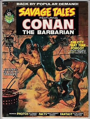 Savage Tales # 2 Vfn+ (8.5) Conan - Classic 'red Nails'-  Barry Smith Art- Cents