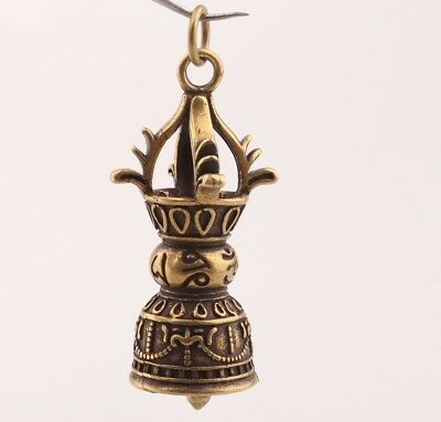 China Rare Brass Unique Handmade Small Bell Pendant Old Antique Collection