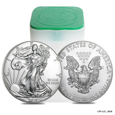 2018-1 Oz Silver American Eagle ☆ Problem Free Coins ☆ Free Shipping