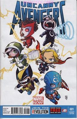 Uncanny Avengers #1 Skottie Young Baby Variant Cover Marvel Comic 2012 New Thor