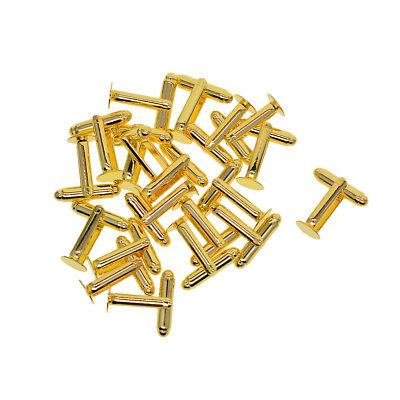 20x Brass Cufflink Blanks Round Flat Pad 8mm Cabochon Settings Findings Gold