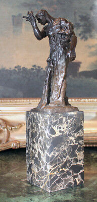 Nude Male Famous French Rodin Burghers of Calais Bronze Marble Statue Figurine