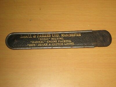 Antique Cased Small & Parkes, M'Chester One Foot Folding Precision Steel Rule.