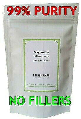 Magnesium L-Threonate 500mg Veg Cap 60,90,120,180,360